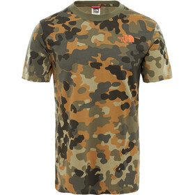 The North Face M's Red Box SS Tee New Taupe Green Macro Flick Print